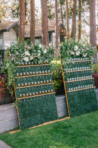 champagne wall, Montana party rental, Mangia Catering, Ashley graham events